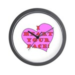 I Heart Your Face! Wall Clock