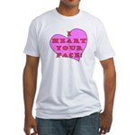 I Heart Your Face! Fitted T-Shirt