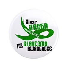 "I Wear Green 33 (Glaucoma Awareness) 3.5"" Button ("