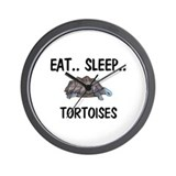 Eat ... Sleep ... TORTOISES Wall Clock