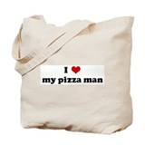 I Love my pizza man Tote Bag