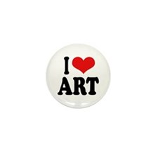 I Love Art Mini Button (100 pack)