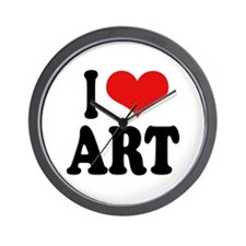 I Love Art Wall Clock