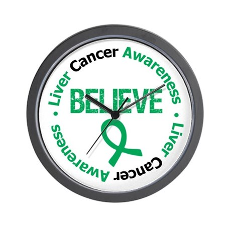 Liver Cancer BELIEVE Wall Clock