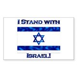 I Stand With Israel Rectangle Stickers