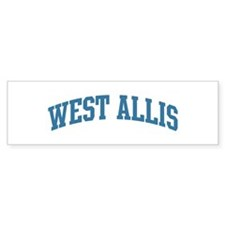 West Allis (blue) Bumper Sticker (10 pk)