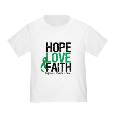 HopeLoveFaith LiverCancer Toddler T-Shirt