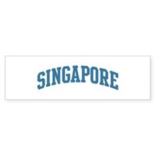 Singapore (blue) Bumper Sticker (10 pk)