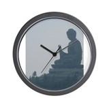 grey buddah Wall Clock