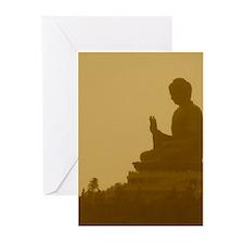 brown buddha Greeting Cards (Pk of 20)