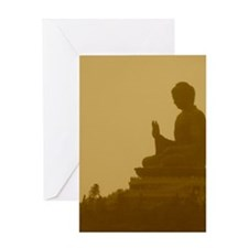 brown buddha Greeting Card