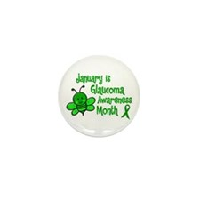 Glaucoma Awareness Month BEE 3 Mini Button (10 pac