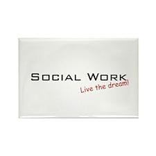 Social Work / Dream! Rectangle Magnet (10 pack)