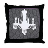 Purple/Grey Chandelier Pillow