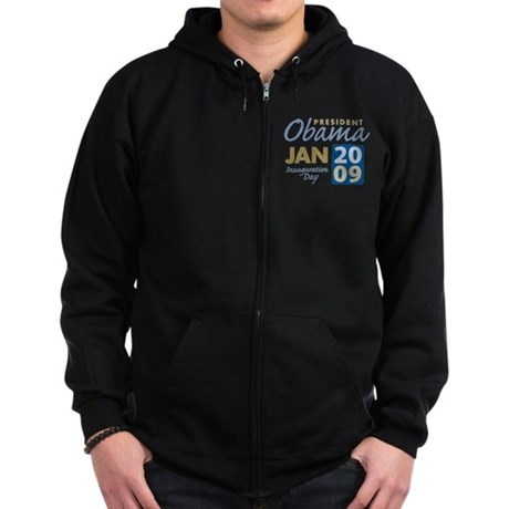 Obama Inauguration Zip Hoodie (dark)