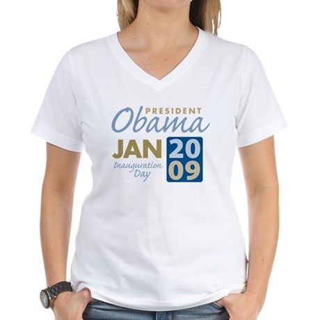 Obama Inauguration Women's V-Neck T-Shirt