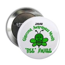 "Glaucoma Awareness Month BEE 2 2.25"" Button"