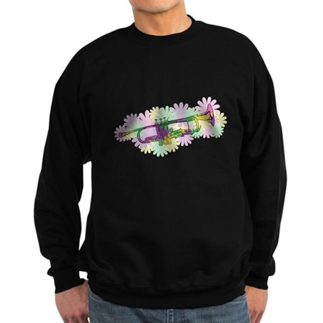 Flower Power Trumpet Sweatshirt (dark)