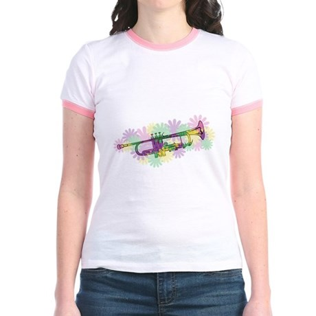 Flower Power Trumpet Jr. Ringer T-Shirt
