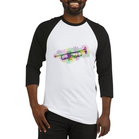 Flower Power Trumpet Baseball Jersey