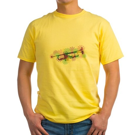 Flower Power Trumpet Yellow T-Shirt