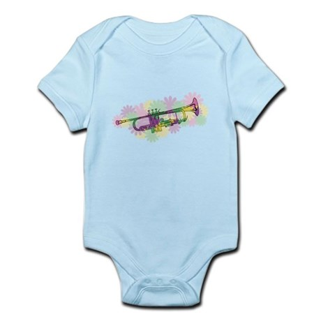Flower Power Trumpet Infant Bodysuit