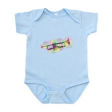 Flower Power Trumpet Infant Bodysuit