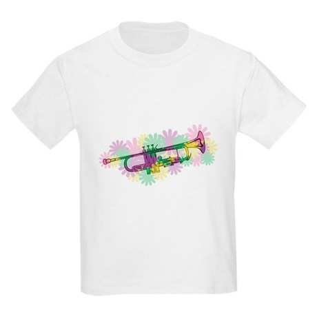 Flower Power Trumpet Kids Light T-Shirt
