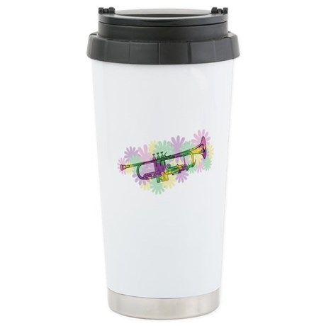 Flower Power Trumpet Ceramic Travel Mug