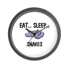Eat ... Sleep ... SNAKES Wall Clock