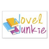 Novel Junkie Rectangle Decal