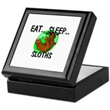 Eat ... Sleep ... SLOTHS Keepsake Box