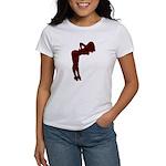 Nude Pin-up Girl Rockabilly (red 3) Women's T-Shir