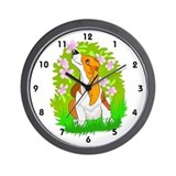 Love Is A Basset Hound Wall Clock