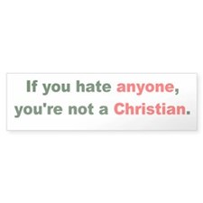 Not a Christian Bumper Bumper Sticker