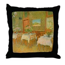 Van Gogh Interior of a Restaurant Throw Pillow