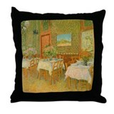 Van Gogh Interior Restaurant Throw Pillow