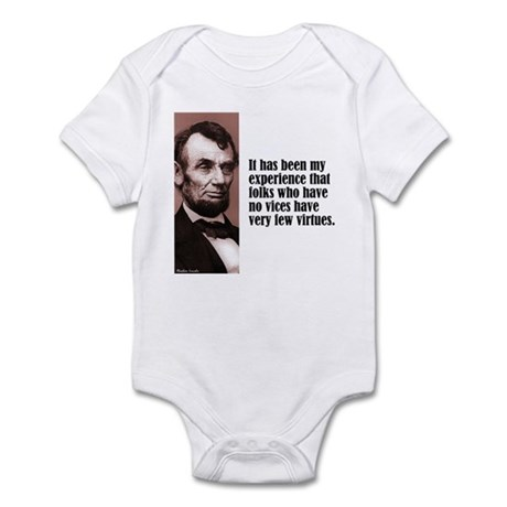 "Lincoln ""Vices & Virtues"" Infant Bodysuit"