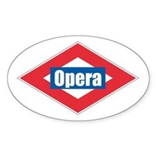 Opera Oval Decal