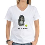 Tibetan Terrier Life Women's V-Neck T-Shirt
