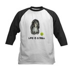 Tibetan Terrier Life Kids Baseball Jersey