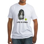 Tibetan Terrier Life Fitted T-Shirt