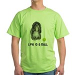 Tibetan Terrier Life Green T-Shirt