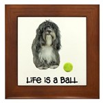 Tibetan Terrier Life Framed Tile