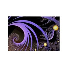 """Light 4"" Fractal Art Rectangle Magnet (10 pack)"
