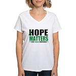 HopeMatters LiverCancer Women's V-Neck T-Shirt