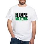 HopeMatters LiverCancer White T-Shirt