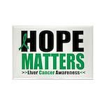 HopeMatters LiverCancer Rectangle Magnet