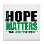 HopeMatters LiverCancer Tile Coaster