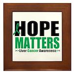 HopeMatters LiverCancer Framed Tile